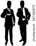 mafia man with handgun | Shutterstock .eps vector #367182875