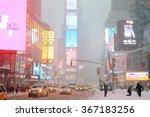 new york  ny jan 03  heavy snow ... | Shutterstock . vector #367183256