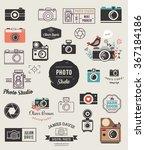 photographer  cameras  photo... | Shutterstock .eps vector #367184186