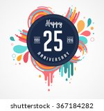 anniversary   abstract... | Shutterstock .eps vector #367184282