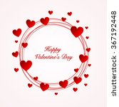 valentine's day card with... | Shutterstock .eps vector #367192448