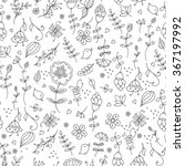 floral seamless pattern  spring ... | Shutterstock .eps vector #367197992