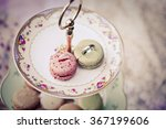 rings on macaroons | Shutterstock . vector #367199606