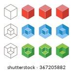 3d cube isometric logo concept. ... | Shutterstock .eps vector #367205882