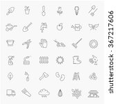 outline icon collection  ... | Shutterstock .eps vector #367217606