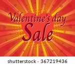 valentine's day sale  wording... | Shutterstock .eps vector #367219436