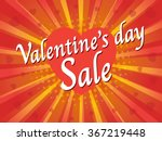 valentine's day sale  wording... | Shutterstock .eps vector #367219448