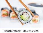 close up of chopsticks taking... | Shutterstock . vector #367219925