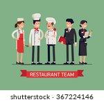 lovely line up group of... | Shutterstock .eps vector #367224146