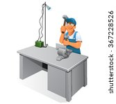safety. manual worke.work bench ...   Shutterstock .eps vector #367228526