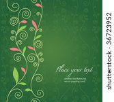 green floral design   Shutterstock .eps vector #36723952