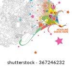 colorful monster doodle   Shutterstock .eps vector #367246232