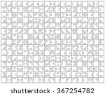 white puzzle  vector... | Shutterstock .eps vector #367254782