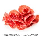 salami sausage slices isolated...   Shutterstock . vector #367269482