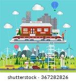 flat concept industrial... | Shutterstock .eps vector #367282826
