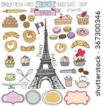 doodle vector.french bakery... | Shutterstock .eps vector #367300346