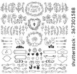 easter decoration set.doodles... | Shutterstock .eps vector #367301588