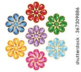 pattern of seven flowers ... | Shutterstock . vector #367309886