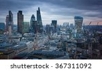 panoramic view city of london... | Shutterstock . vector #367311092