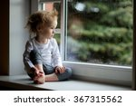 adorable toddler girl looking... | Shutterstock . vector #367315562