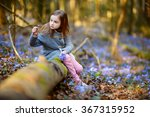 Adorable Little Girl Picking...