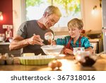 a eight years old blond boy is... | Shutterstock . vector #367318016