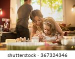 a mother and her four years old ... | Shutterstock . vector #367324346