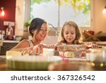 a mother and her four years old ... | Shutterstock . vector #367326542