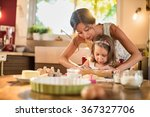 a mother and her 4 years old... | Shutterstock . vector #367327706