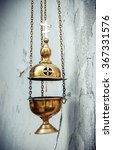 old golden censer with a cross... | Shutterstock . vector #367331576