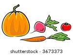 vegetables  vector illustration  | Shutterstock .eps vector #3673373