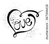 hand drawn black lettering...   Shutterstock .eps vector #367346618