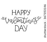 hand drawn romantic typography... | Shutterstock .eps vector #367353146