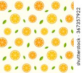 seamless pattern with oranges... | Shutterstock .eps vector #367357922
