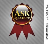 ask questions gold badge | Shutterstock .eps vector #367361762