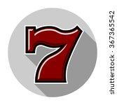 Stock vector slot machine seven icon color vector illustration 367365542