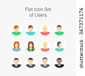 flat vector characters of men... | Shutterstock .eps vector #367371176
