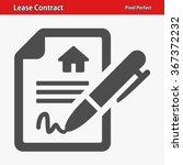 lease contract icon.... | Shutterstock .eps vector #367372232