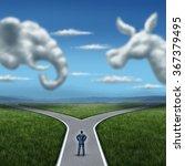 republican versus democrat... | Shutterstock . vector #367379495