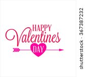 happy valentines day poster | Shutterstock .eps vector #367387232