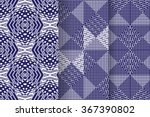 set of 3 abstract  seamless... | Shutterstock .eps vector #367390802