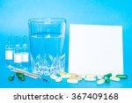 medicine pills or capsules with ... | Shutterstock . vector #367409168