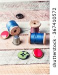 spools of thread and various... | Shutterstock . vector #367410572
