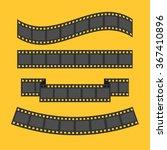 film strip frame set. different ... | Shutterstock .eps vector #367410896