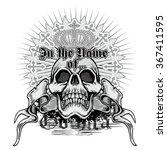 grunge skull coat of arms   Shutterstock .eps vector #367411595
