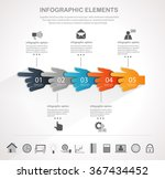 info graphic design template... | Shutterstock .eps vector #367434452