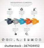 info graphic design template... | Shutterstock .eps vector #367434452