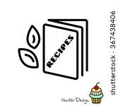 web line icon. recipe book | Shutterstock .eps vector #367438406