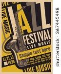 poster for the jazz festival... | Shutterstock .eps vector #367445498