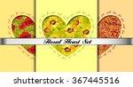 set of floral valentines card... | Shutterstock .eps vector #367445516